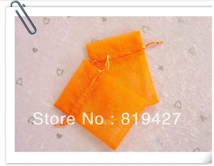 100 pcs/lot 11 * 16 см оранжевый чистой органза мешок christmat или свадьба подарок сумка ювелирные изделия упаковка pouch01