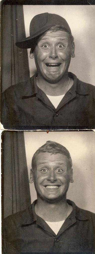 +~ Vintage Photo Booth Picture ~+  This guy cracks me up!: