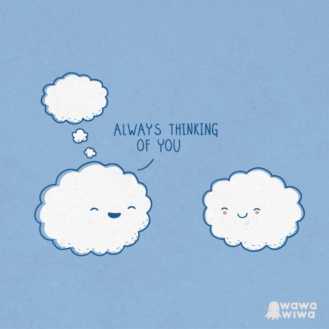 Always thinking of you - Happy drawings :)