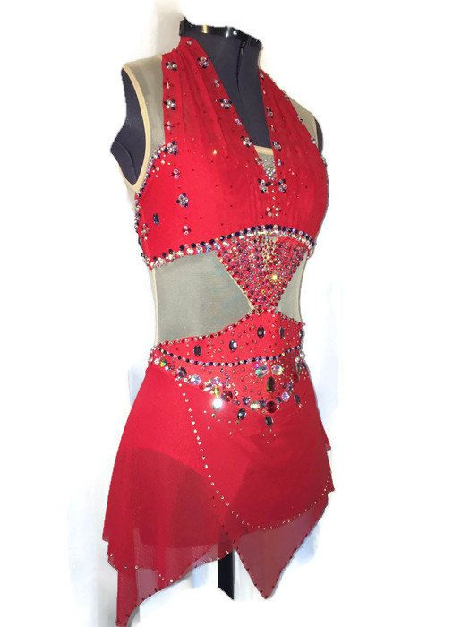 Figure Skating Competition Dress Bollywood by spiralsdesignscom