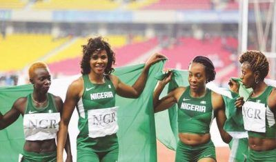 #RIO2016: Nigeria Womens Relay Team Finishes First From Behind