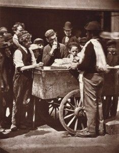 Old london ice-cream cart. 1876