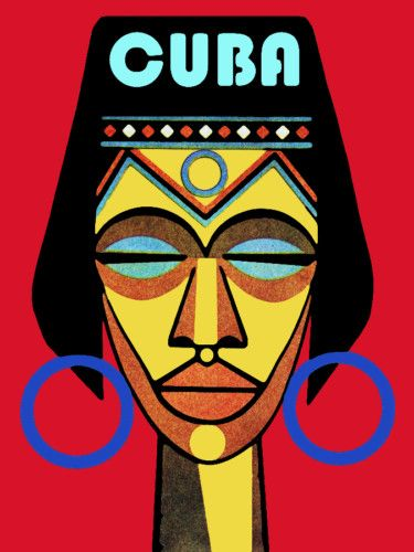 Cuba Travel Poster Afrocuban Yoruba Religion Office Travel Shop Decor 6i | eBay