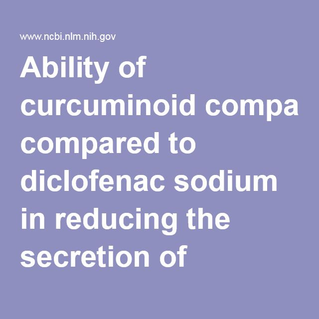 Ability of curcuminoid compared to diclofenac sodium in reducing the secretion of cycloxygenase-2 enzyme by synovial fluid's monocytes of patients ... - PubMed - NCBI