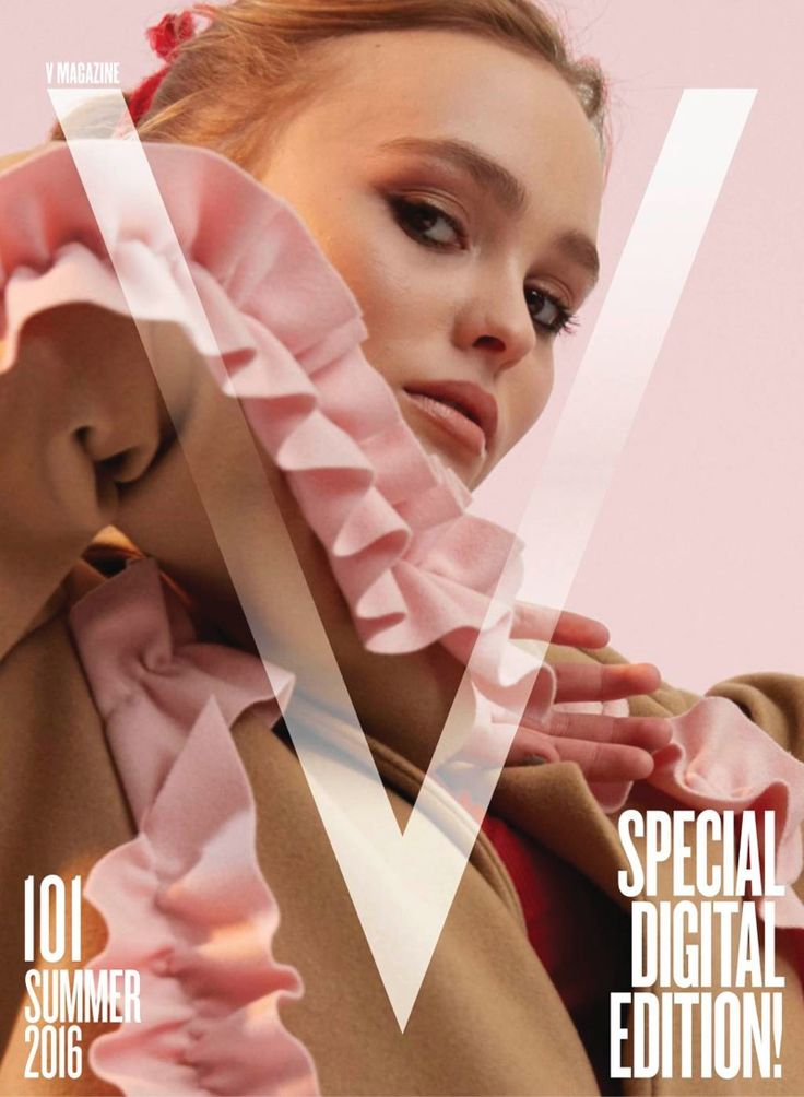 Lily-Rose Depp gets her closeup on the first digital issue of V Magazine. Photographed by Charlie Engman