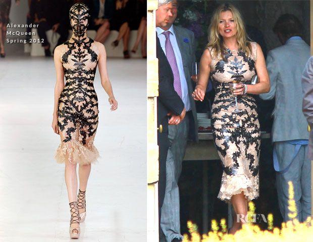 Kate Moss In Alexander McQueen - Jade Jagger's Wedding