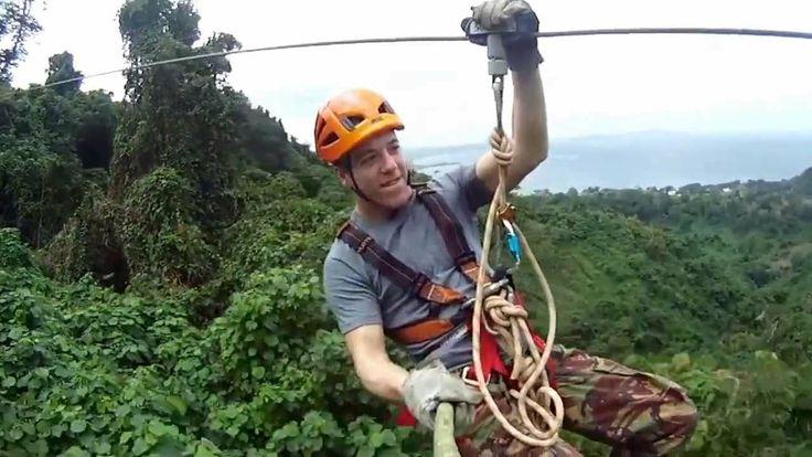 Jungle zip line.