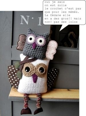 crochet and knit owls by Ladybumblebee