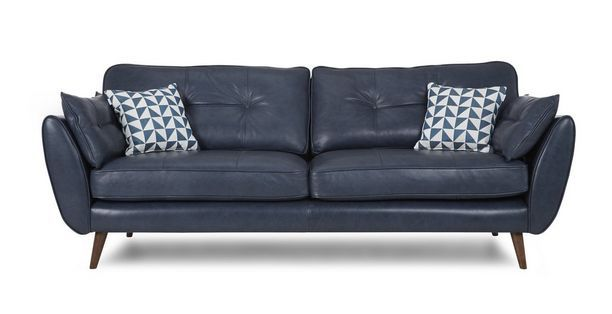 Zinc Leather 4 Seater Sofa Zinc Leather Dfs Sit Pinterest Ireland Leather And Sofas