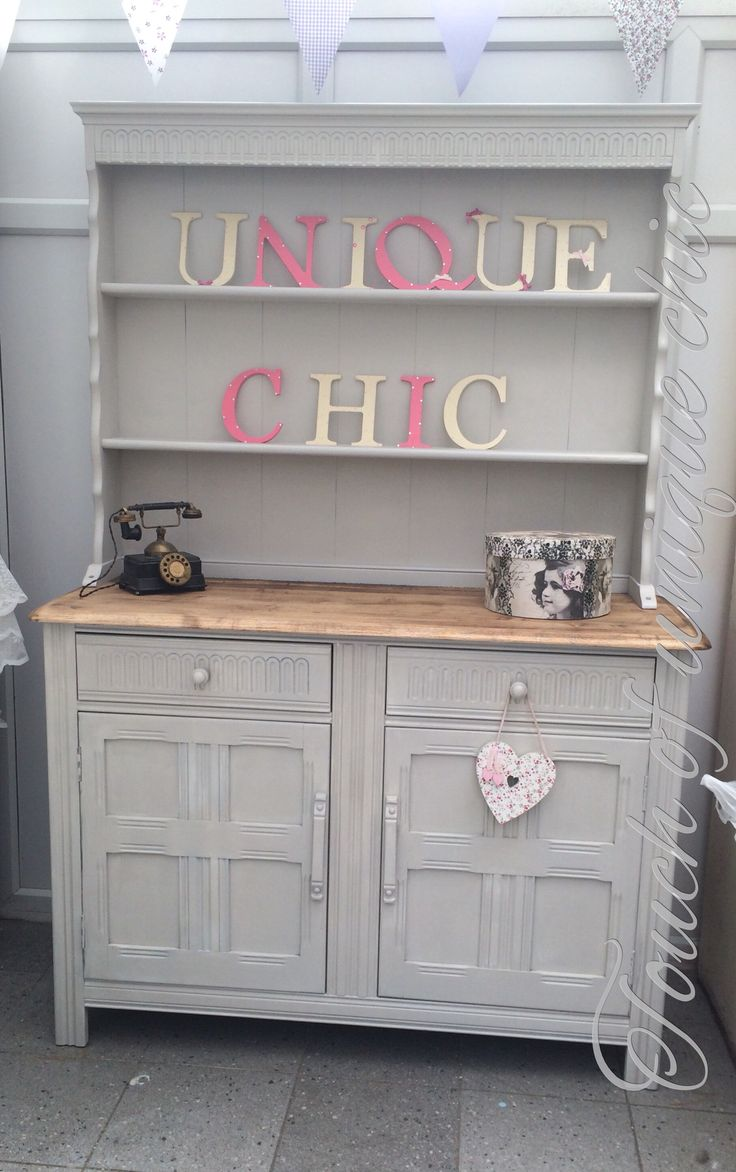 Priory Dresser Painted In Farrow And Ball Purbeck Stone Utility Room Shabby Chic Welsh