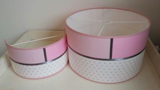 hanglamp & wandlampje roze