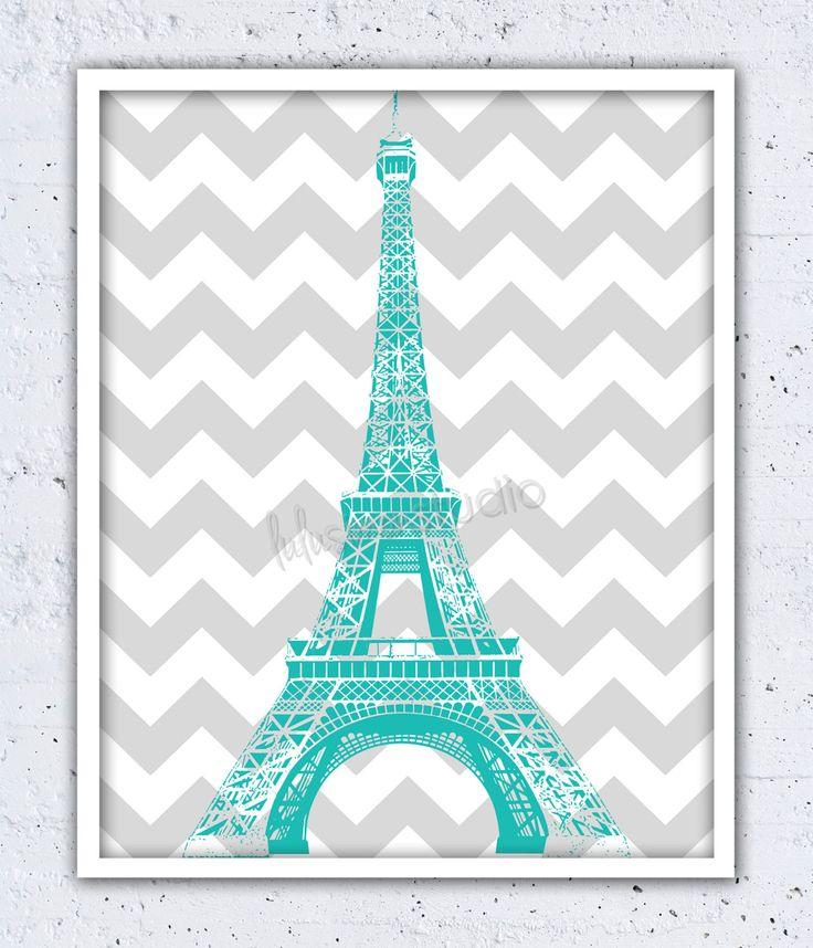 Eiffel Tower Wall Decor Wall Decor Paris by lulusimonSTUDIO