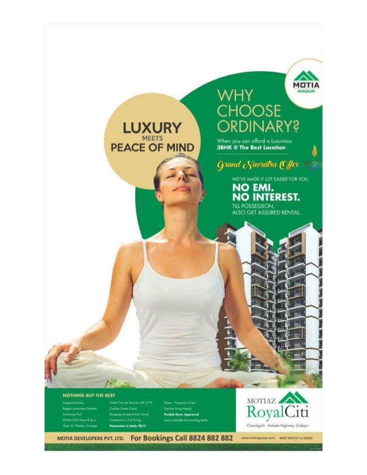 Luxury meets 'peace of mind' by @motiagroup #3bhkflatsinzirakpur #royalciti http://www.slideshare.net/MotiaD/luxury-meets-peace-of-mind … via @SlideShare