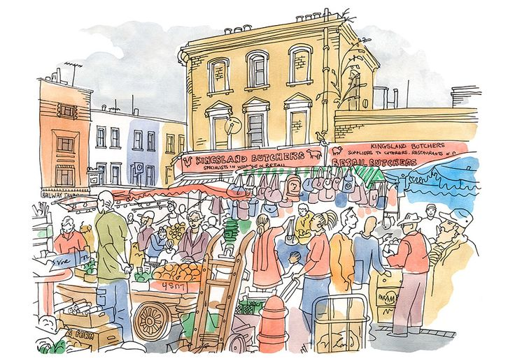Ridley Road and Kingsland Butchers - Limited Edition Print - East End Prints