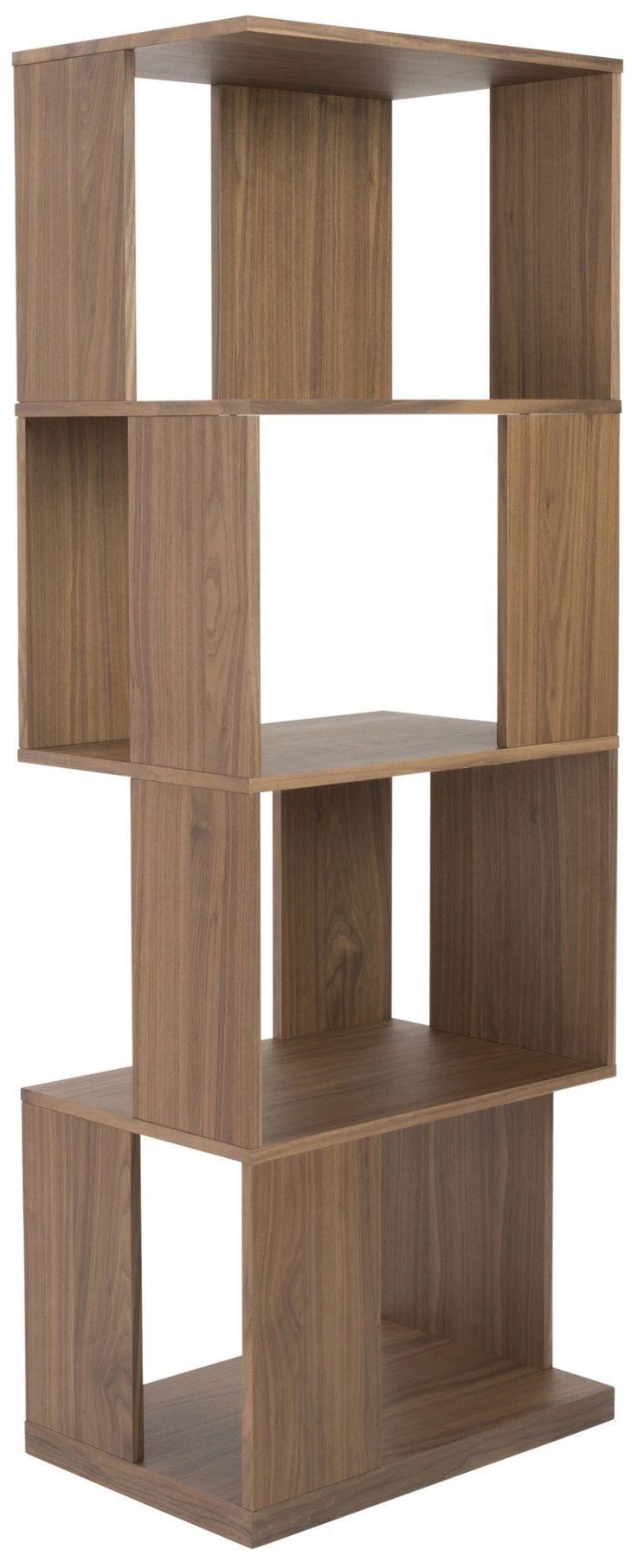 Chateau bookcase walnut leaning bookcase white modern bookcase walnut - Chalais Shelving Unit Walnut