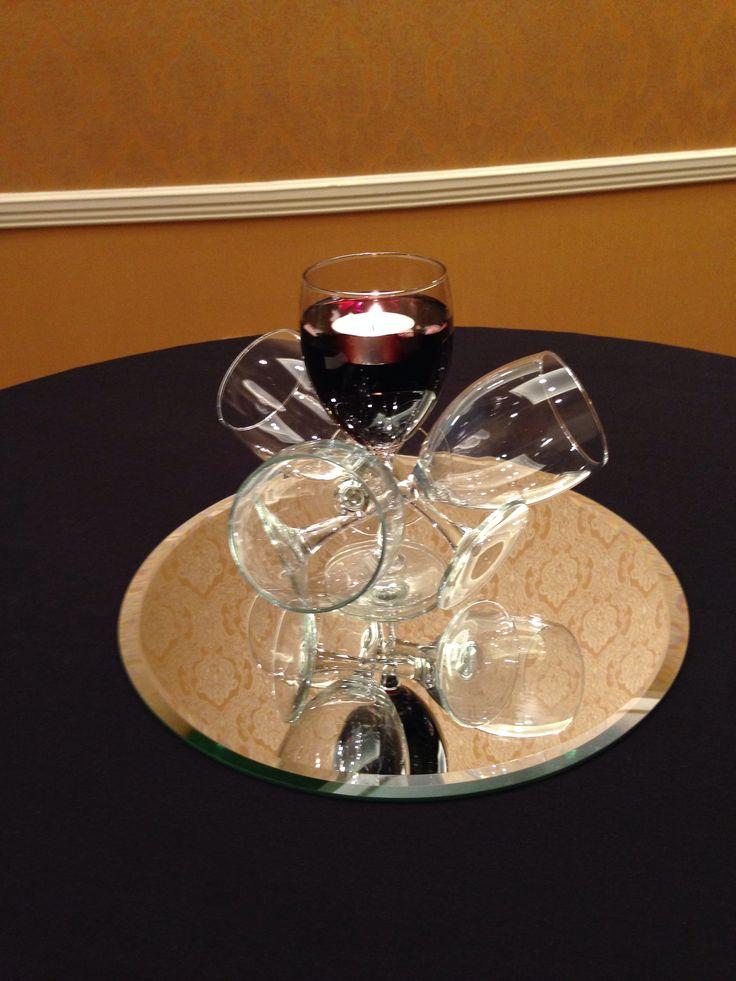 Wine glass centerpiece centerpieces