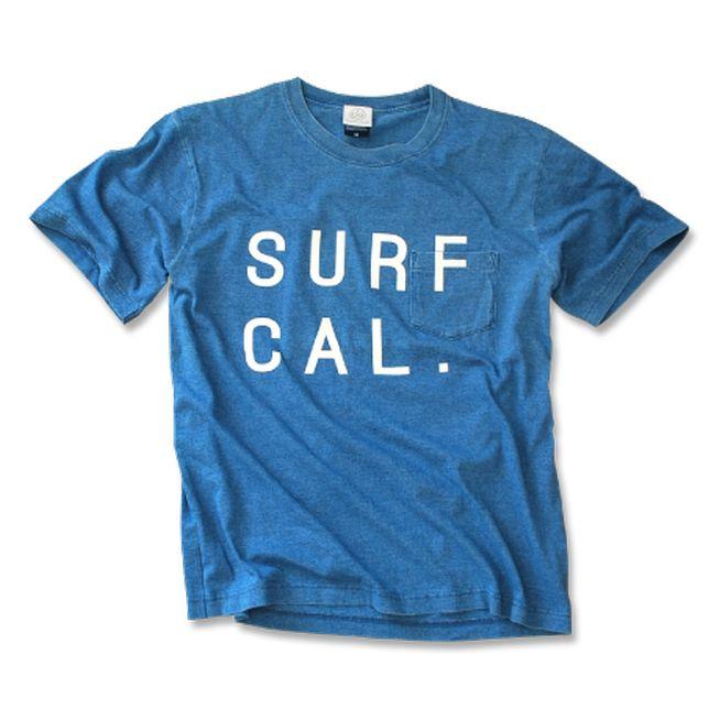 SURF CAL. Pocket Tee  【 Light Indigo】