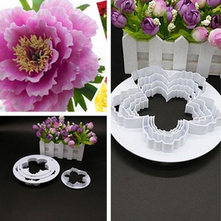 Peony Petals Cutter 4pcs/set Flowers Cutter, Free Shipping!