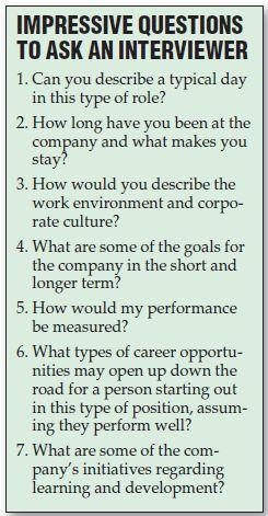 Good questions for an interviewer.