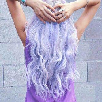 Light purpel hair Long Curly
