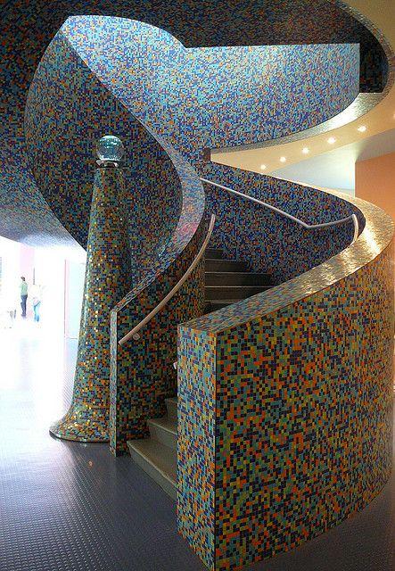 Stairway to heaven? © mefeather Stairway in Groninger Museum, Groningen, The Netherlands.