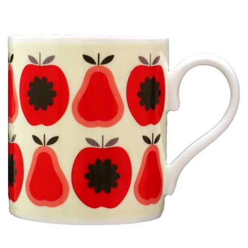 Pears and Apple print Mug by Orla Kiely bone china