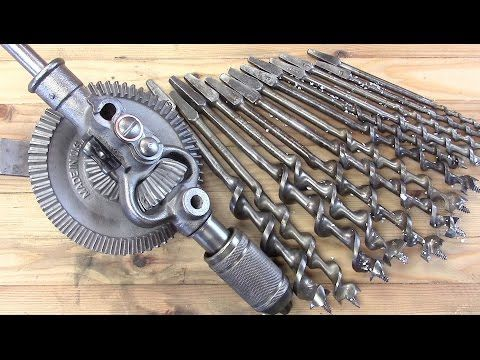 Restoring Old Woodworking Tools + Breast Drill - YouTube