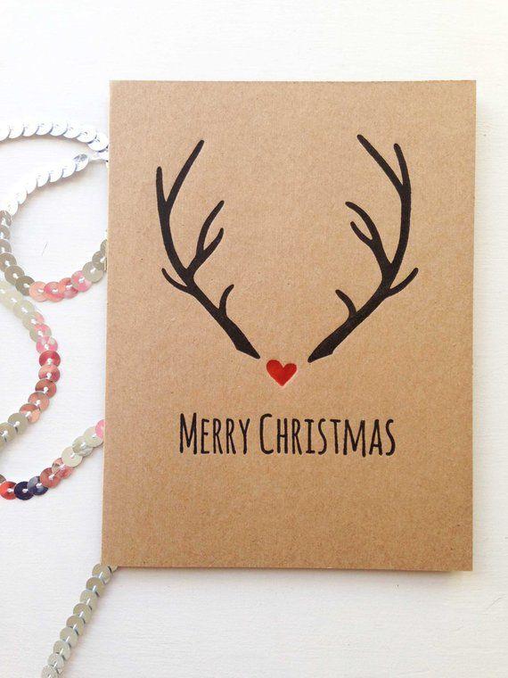Jeux De Carte De Noel Carte De Noel Rustique Cartes De Etsy Christmas Cards Etsy Christmas Cards Handmade Diy Christmas Cards