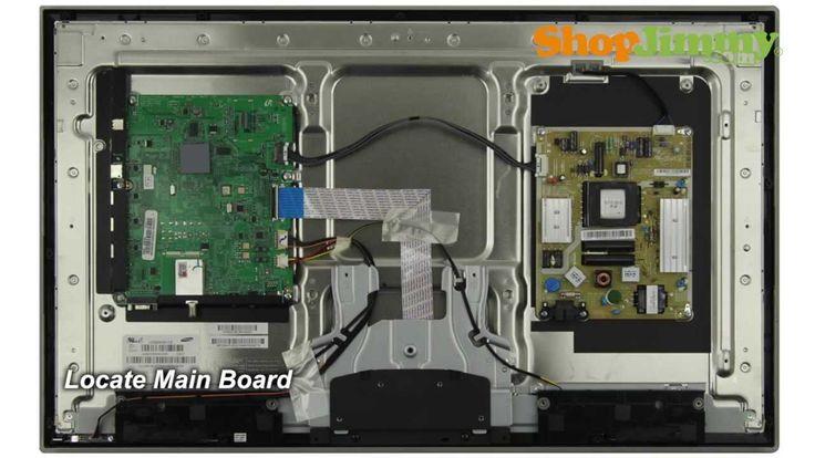 Samsung Tv Repair Tutorial Replacing Main Board In