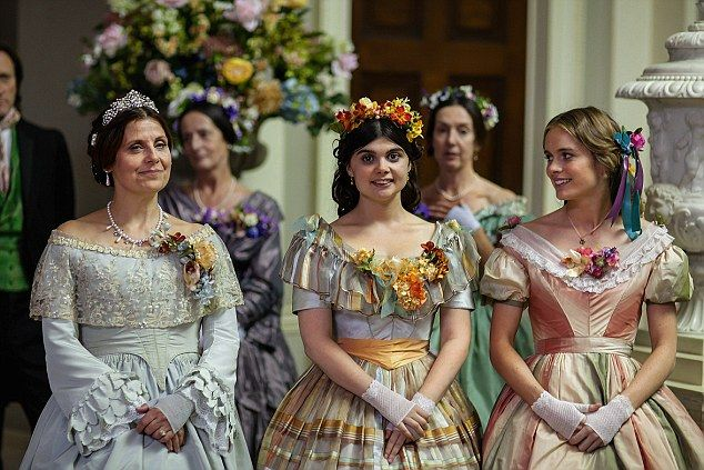 Rebecca Front as Lady Arabella and Gwyneth Keyworth as her daughter Augusta, with Cressida as Patience