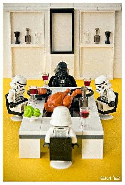"""Lego Thanksgiving.  Oh wait!  In Star Wars, that's """"Life Day""""!  Y'all remember that?"""