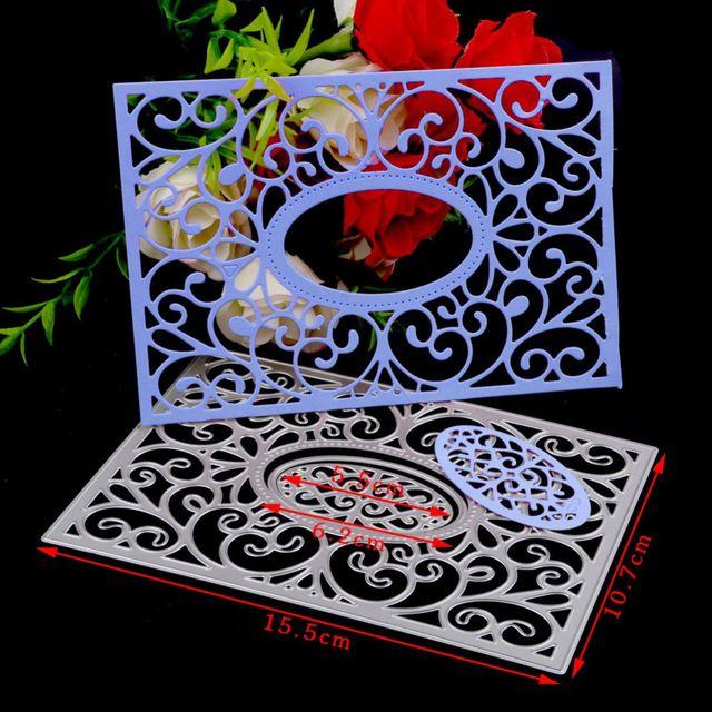Цветок резки металла умирает трафарет скрап-Альбом Бумажные карты тиснение резак DIY