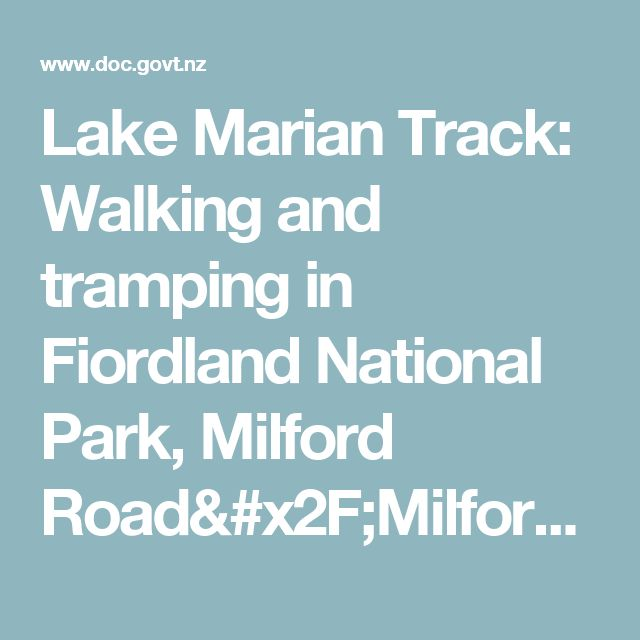 Lake Marian Track: Walking and tramping in Fiordland National Park, Milford Road/Milford Sound area