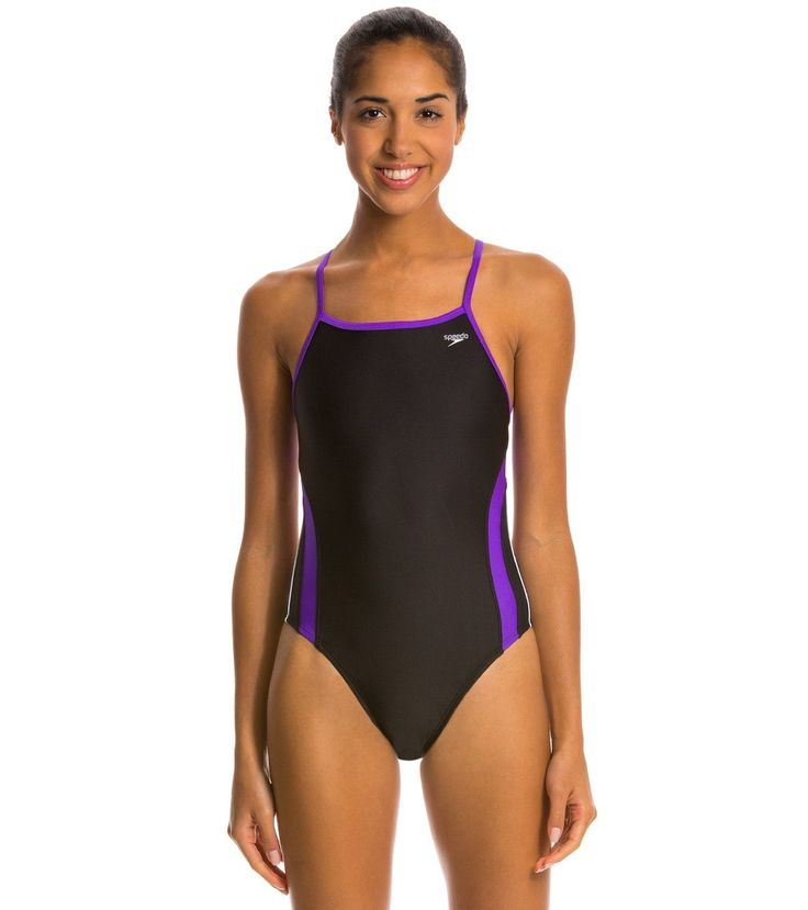 Speedo Rapid Spliced Energy Back Swimsuit at SwimOutlet.com - The Web's most popular swim shop