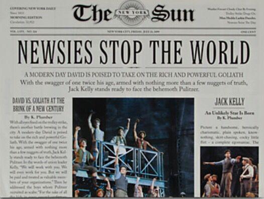 the world newspaper new york newsies pdf