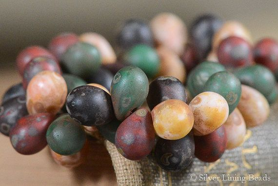 Harvest Drops 25  Czech Glass Bead  5x7mm  by SilverLiningBeads