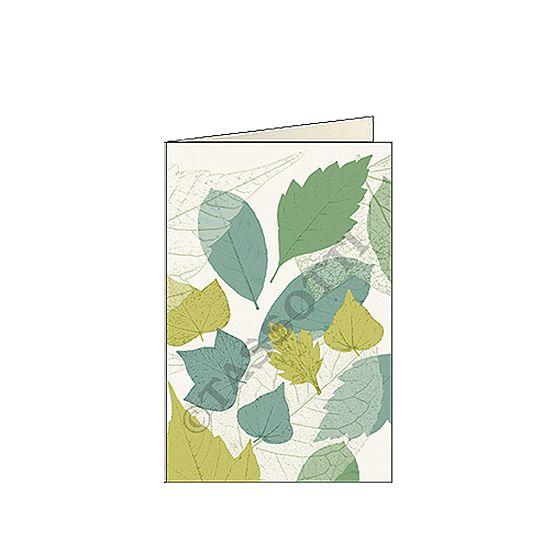 "biglietti d'auguri piccoli 7x105 cm tassotti ""foglie"
