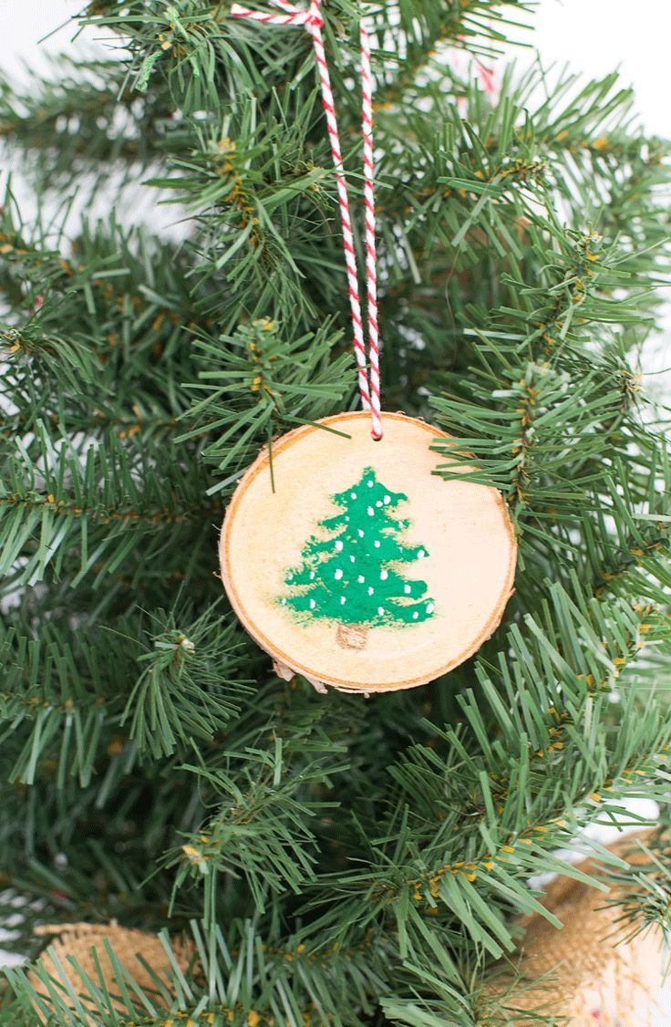 Rustic Wood Painted Christmas Ornaments