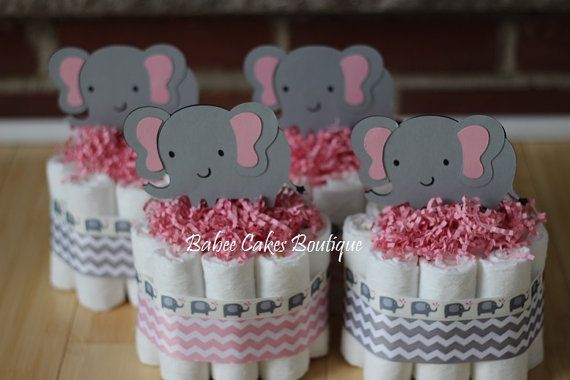 These adorable mini cakes are perfect for displaying on a mantle, table décor or simply scattered around your shower. Each cake comes with 10