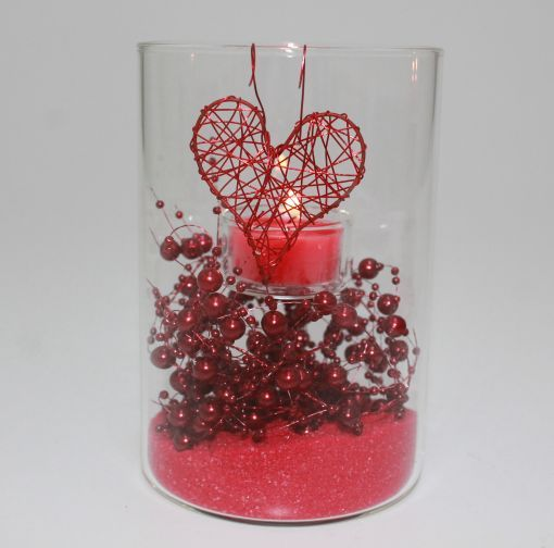 valentin t-light med hjerter tæt