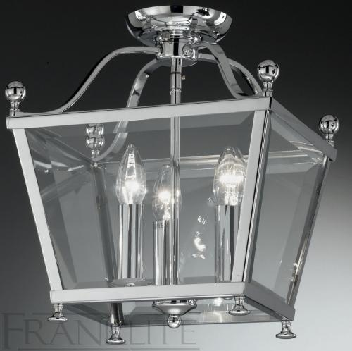 PASILLO PENDANT LAMP CHROME FINISH SELECTION OF TRADITIONALLY STYLED LANTERNS BEVELLED TAPERED GLASS PANELS Price