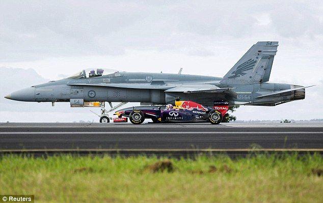 red bull f1 vs f18   Red Bull F1 vs F-18 Hornet