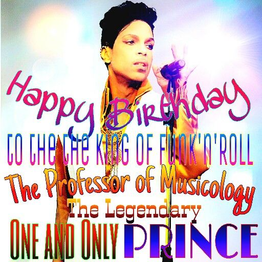 Happy Birthday to Il Primo Maestro, The Composer of My Life's Soundtrack... a 3 funky, Hard-Rocking Virtuoso, Ever Mystical, Purple Yoda... The ONE, Truly Unparalleled, Undisputed, and Undeniable Musical Genius of Our Era... Forever, The Rude Boy: His Royal Badness and Real Music Personified... PRINCE!  #HappyBirthday #Prince