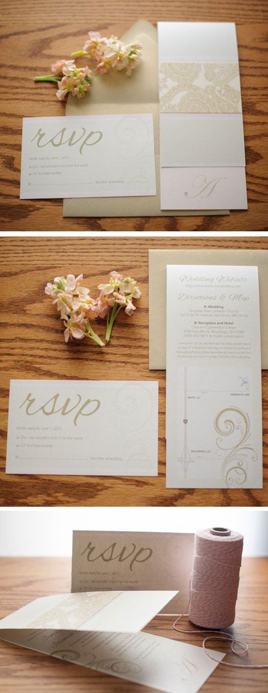 Antique gold blush pink and ivory wedding