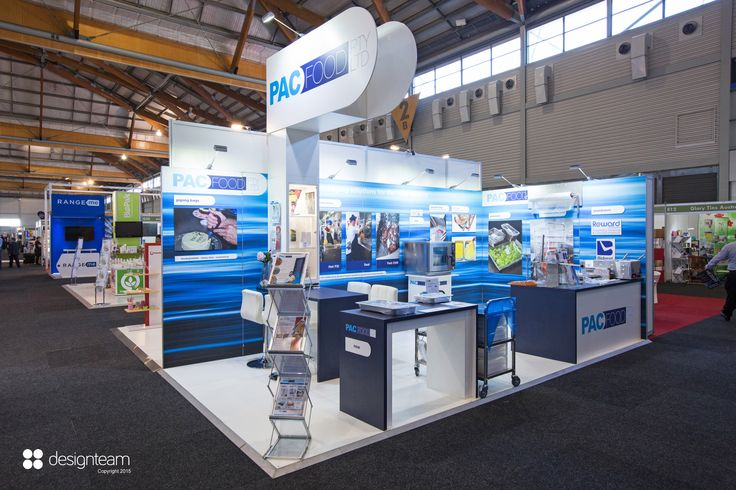 PACFOOD PacFood distributes high quality food storage and packaging solutions to professional chefs. It requires a versatile stand that easily changes product displays and application images for different target audiences from show to show.