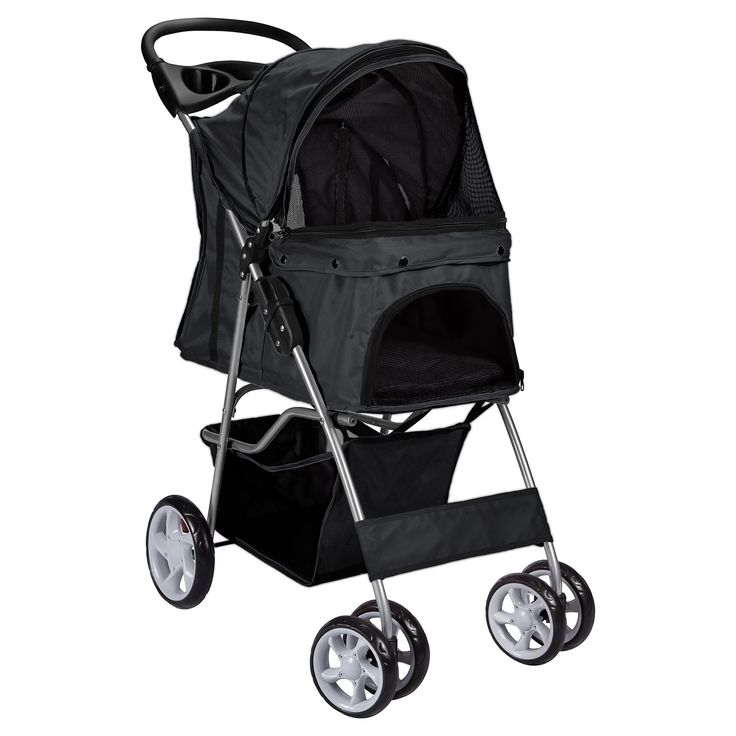 Paws pals 4wheel pet stroller black adult unisex