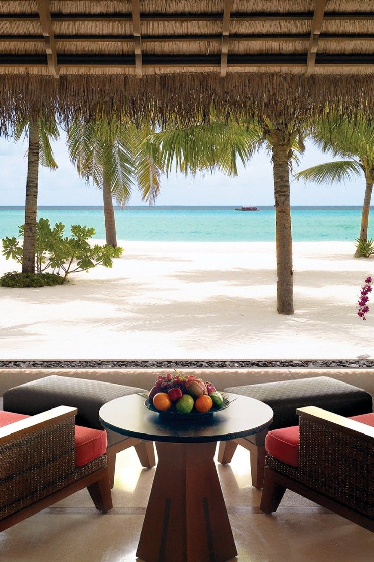 Beach Villa terraces come with awesome Indian Ocean views. #Jetsetter