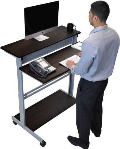 ergonomic stand up desk computer workstation project pdf download woodworkers source. Black Bedroom Furniture Sets. Home Design Ideas