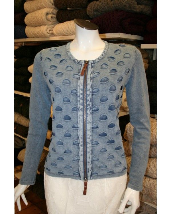 Piece of Blue Zip Front Cardigan/Jacket