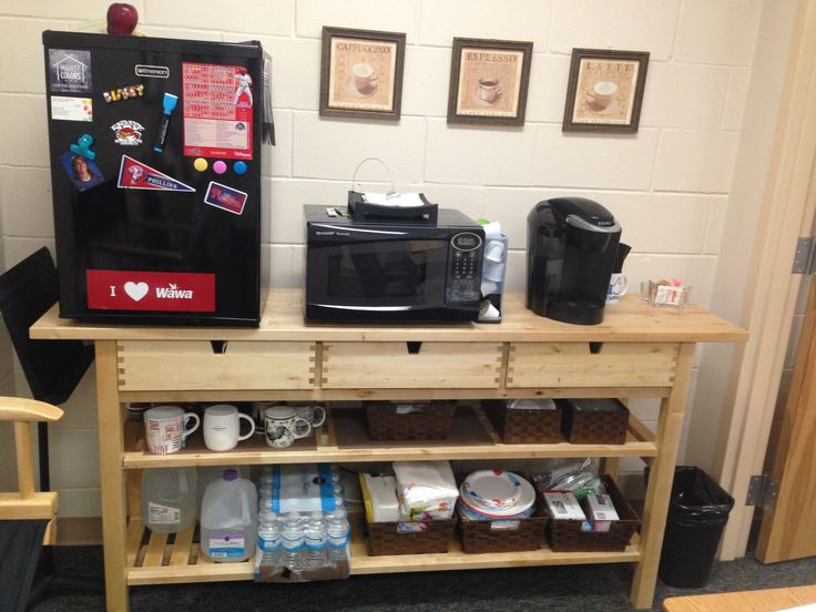 Coffee bar in office classroom pinterest offices for Coffee bar ideas for office